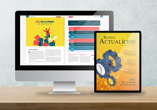 Revista Actualícese edición 116: ABC de la prima de servicios