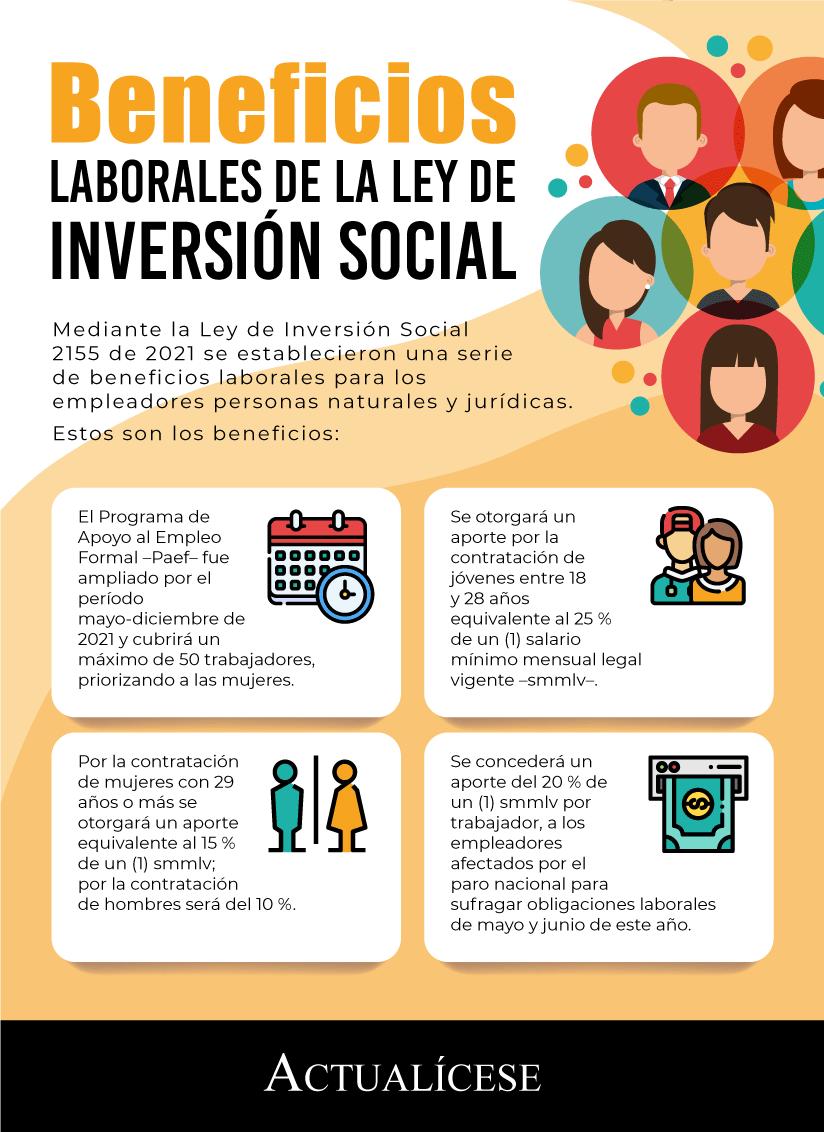 Beneficios laborales dispuestos en la Ley de Inversión Social