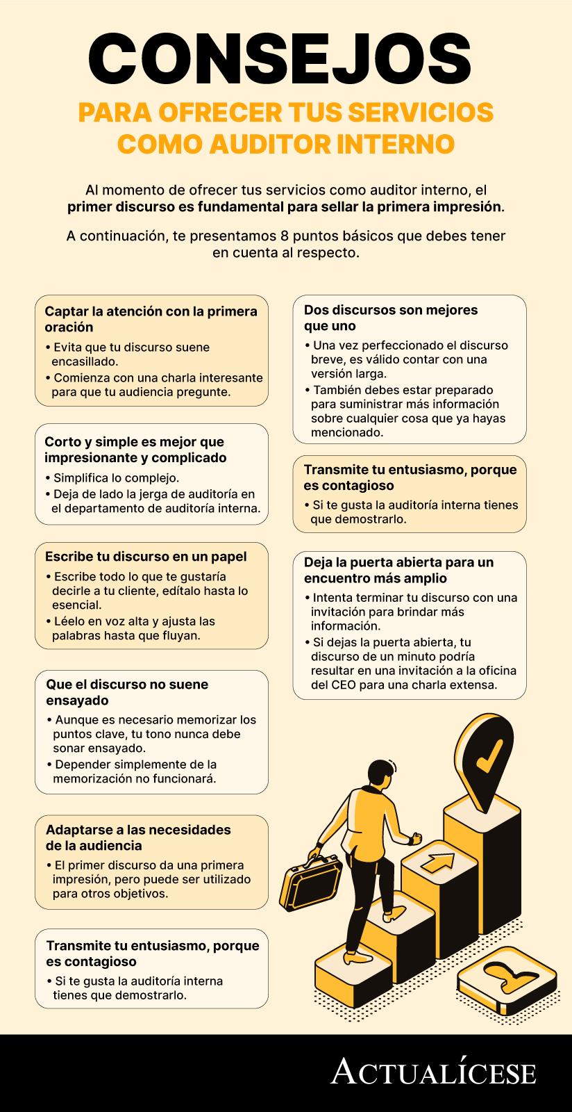 [Infografía] Consejos para ofrecer tus servicios como auditor interno