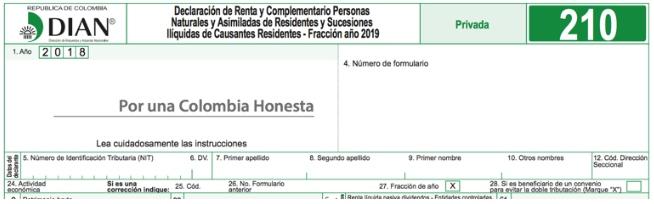Formulario 210 por fracción de 2019 fue prescrito sin haberse reglamentado la Ley 1943 de 2018