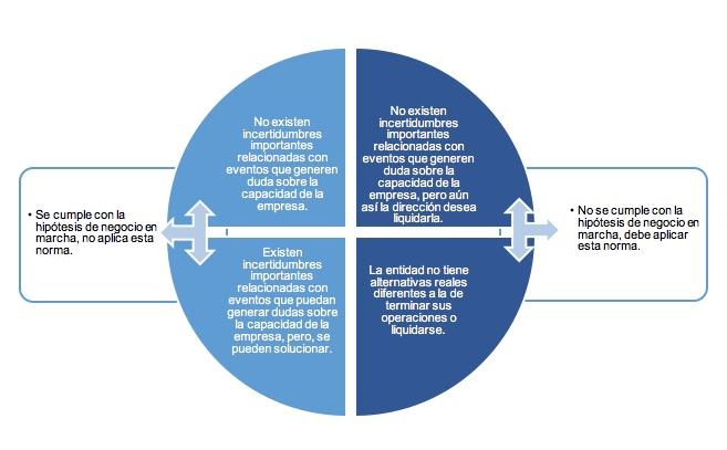 Reconocimiento de activos y pasivos en entidades que no aplican hipótesis de negocio en marcha