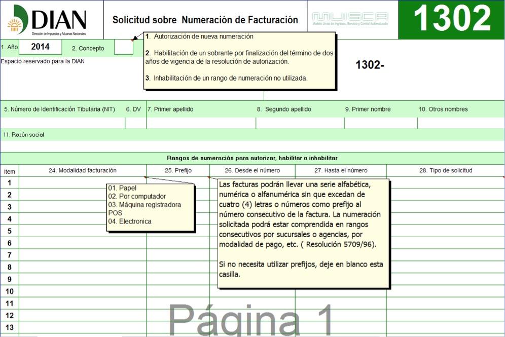 pasos para autorizar o habilitar la numeración de las facturas ante