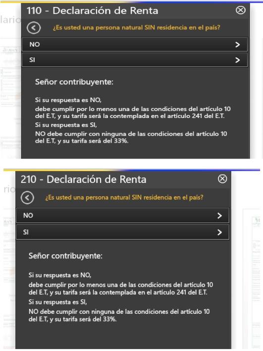 Declaración de renta de no residentes debe ser elaborada en la zona de usuarios registrados