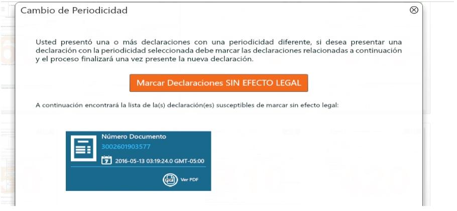 MUISCA y declaraciones ineficaces de IVA y autorretención del CREE presentadas con periodicidad equivocada