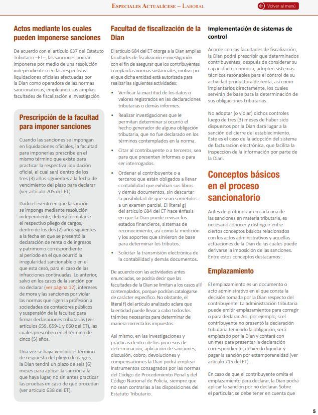 Sanciones tributarias: conceptos básicos para el proceso sancionatorio