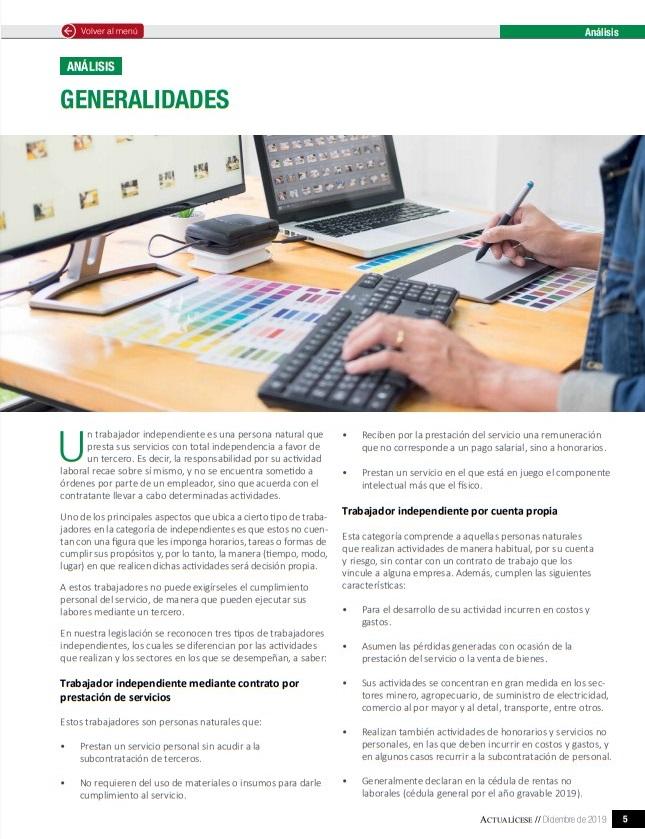 Ingreso base de cotización: determinación según el tipo de trabajador independiente