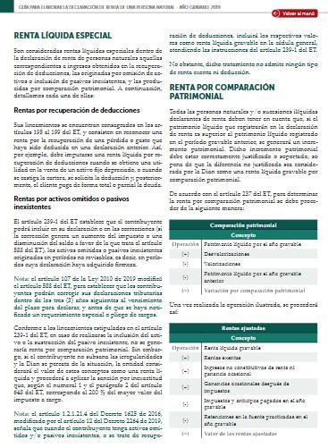 Rentas líquidas especiales en la declaración de renta de una persona natural AG 2019