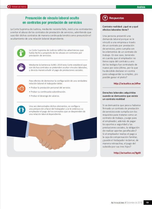 Relación laboral oculta en un contrato de prestación de servicios: ¿cómo identificarla?
