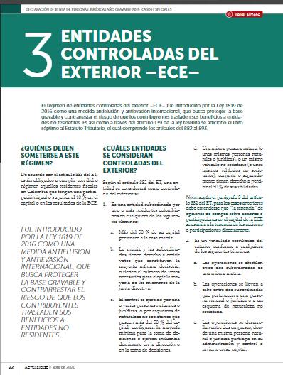Entidades controladas del exterior: todo lo que necesita saber al momento de presentar la declaración de renta