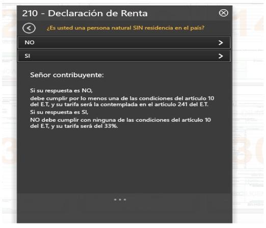 Portal de la DIAN no permite liquidar correctamente el impuesto de Renta en el formulario 210
