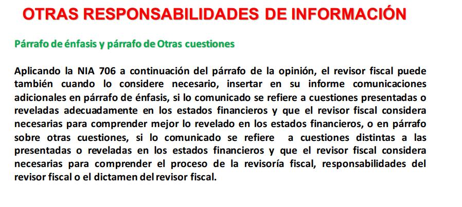PAP- Dictamen del revisor fiscal bajo NIAS