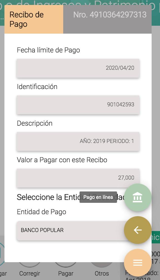 Pasos en el Muisca para pagar cuota del impuesto de renta –AG 2019– según Decreto 520 de 2020