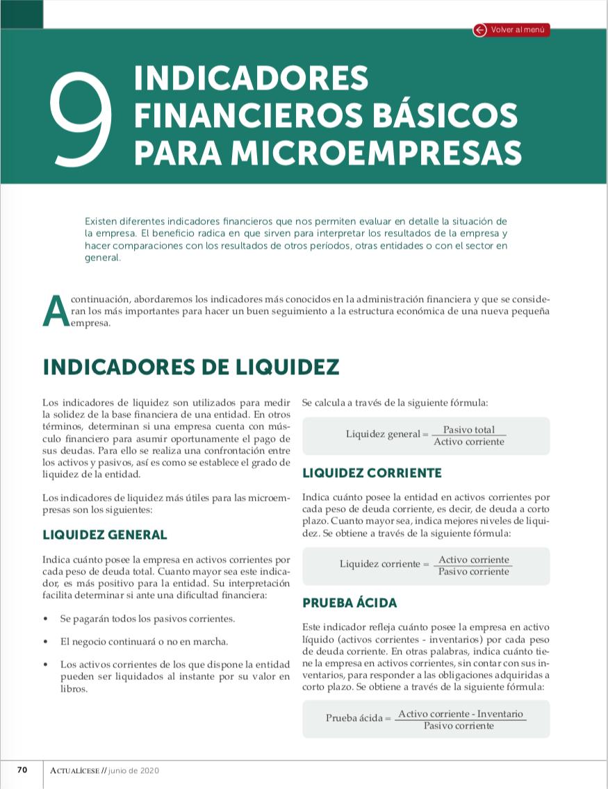 Indicadores financieros más importantes para las microempresas