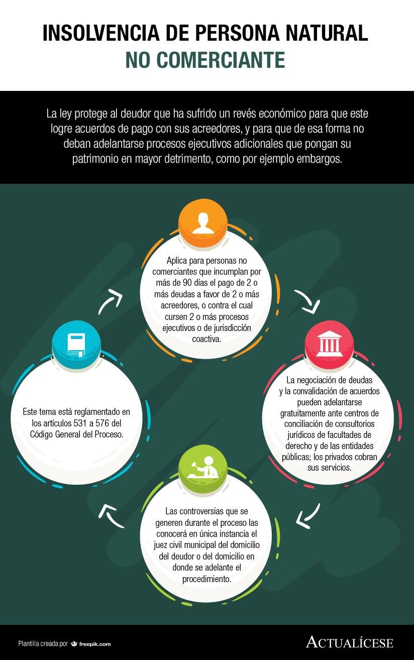 [Infografía] Insolvencia de persona natural no comerciante