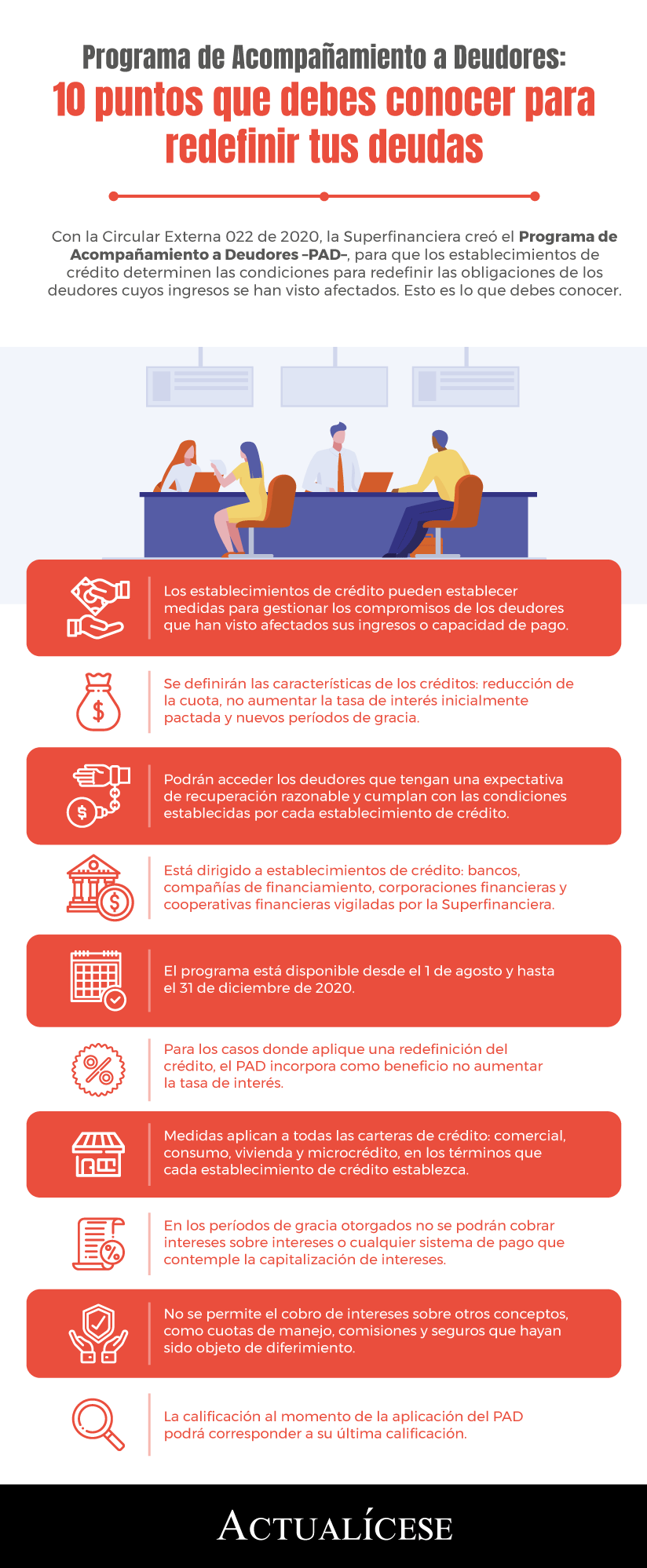 [Infografía] Programa de Acompañamiento a Deudores: 10 puntos que debes conocer para redefinir tus deudas