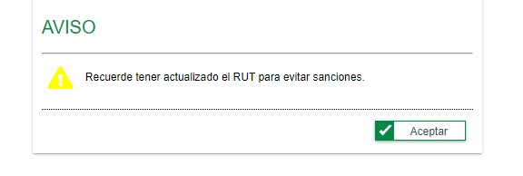 aviso de actualización de RUT en solicitud de numeración