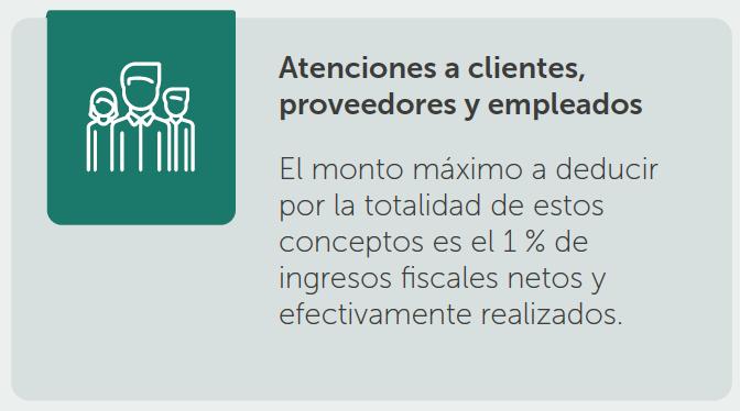 Deducción por atenciones a clientes, proveedores y empleados