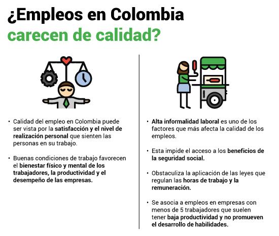 Informalidad y malas condiciones laborales: factores que afectan la calidad del empleo en Colombia