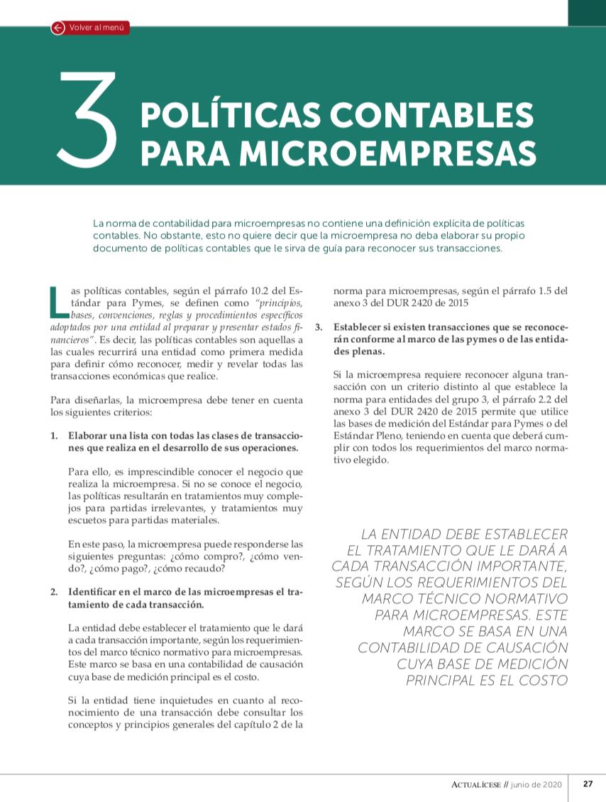 Políticas contables para microempresas bajo NIF