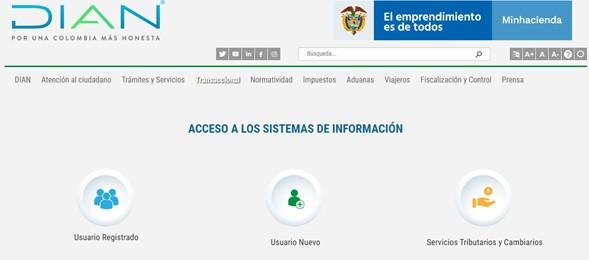 Acceso a sistemas de información de la Dian