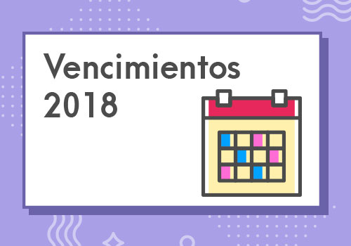 Guía de referencia contable y tributaria para el 2018: vencimientos