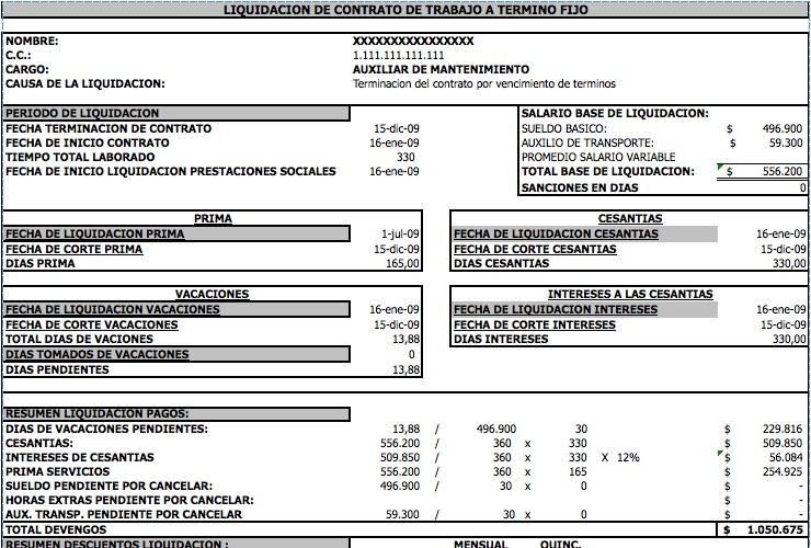 contrato a término fijo | Modelos y Formatos