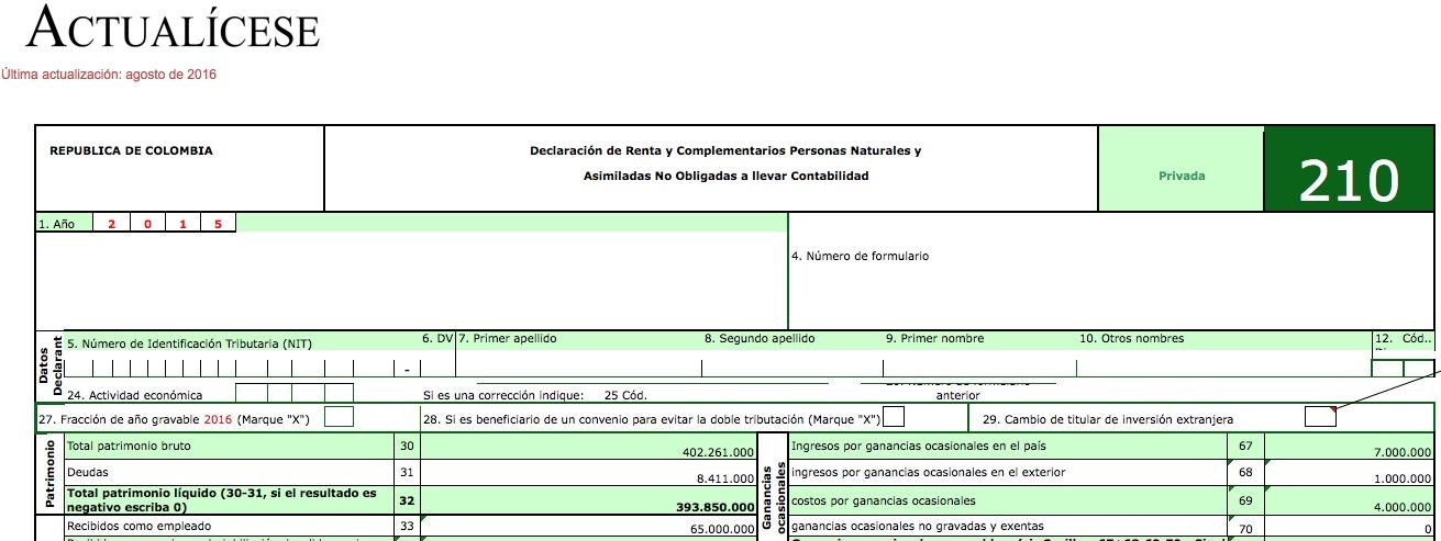 ORO] Formularios 210 y 230 con anexos para la declaración de renta ...