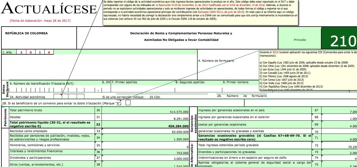 ORO] Formularios 210 y 230 con anexos para declaración de renta ...