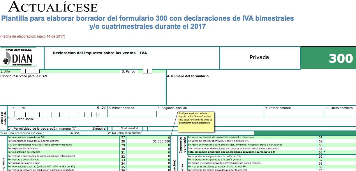 ORO] Formulario 300 para declaraciones de IVA bimestrales y/o ...
