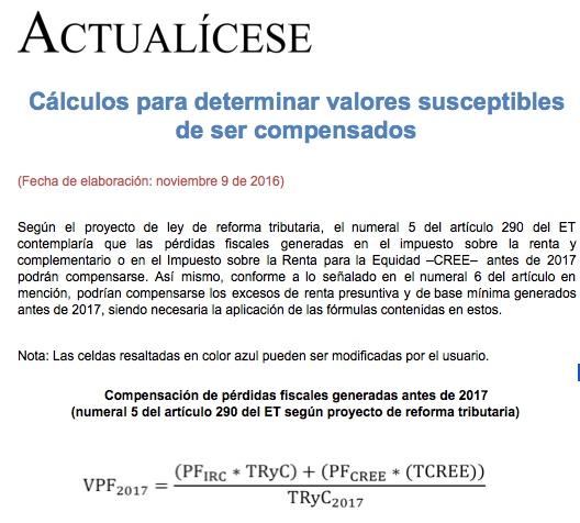 [Liquidador] Cálculos para determinar valores susceptibles de ser compensados