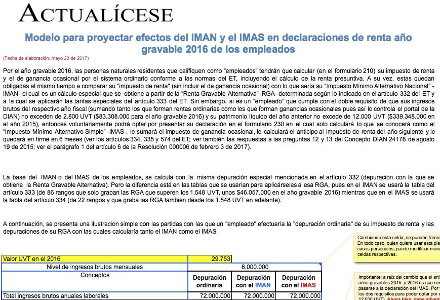 ORO] Modelo para proyectar efectos de IMAN e IMAS en declaraciones ...