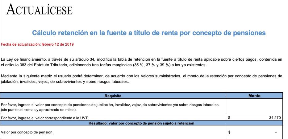 [Liquidador] Cálculo retención en la fuente a título de renta por concepto de pensiones