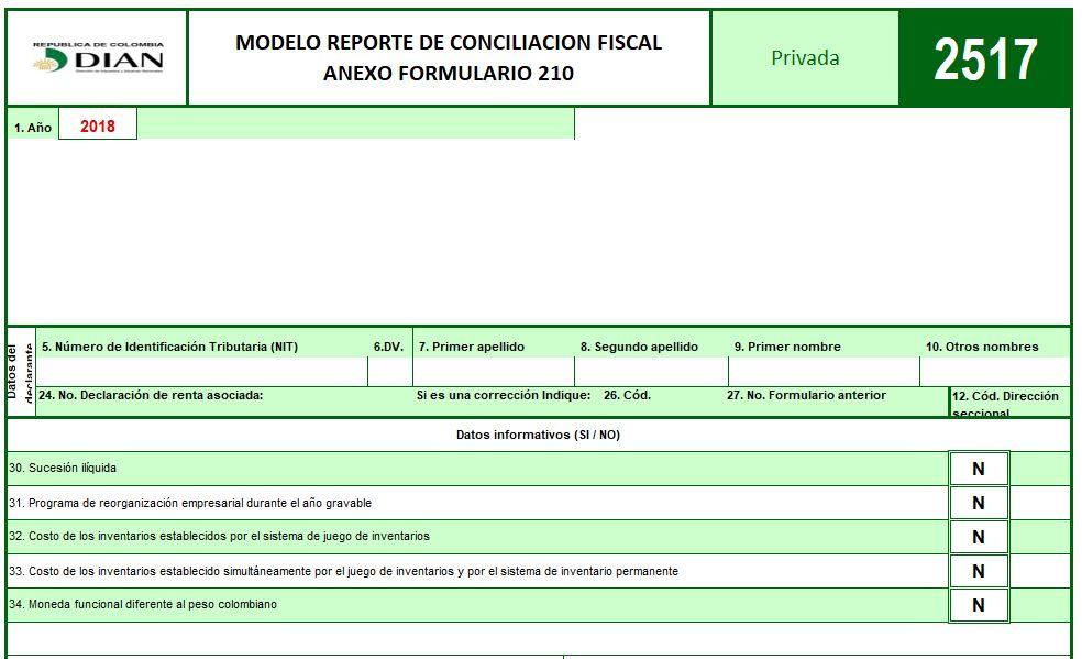 Formulario 210 y formato 2517 para renta AG 2018 – Residentes obligados a llevar contabilidad