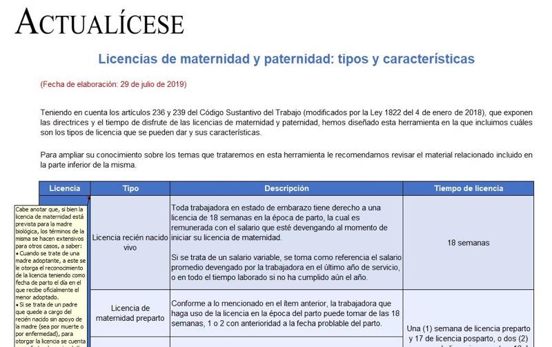 Licencias de maternidad y paternidad: tipos y características