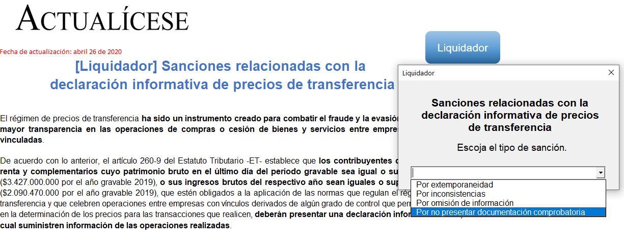 Sanciones relacionadas con la declaración informativa de precios de transferencia