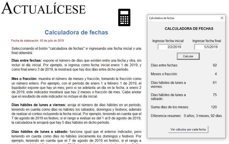 Calculadora de fechas