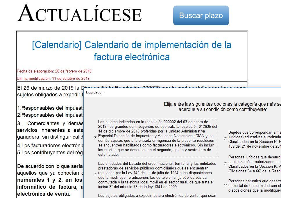 [Calendario] Calendario de implementación de la factura electrónica