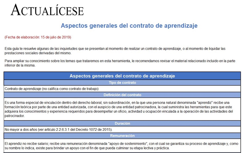 [Guía] Aspectos generales del contrato de aprendizaje