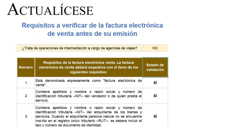 [Guía] Requisitos a verificar de la factura electrónica de venta antes de su emisión