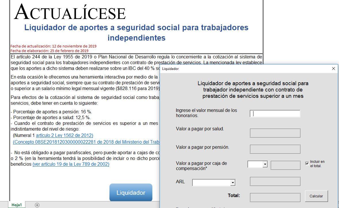 Aportes a seguridad social para trabajadores independientes