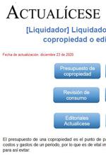 Herramienta interactiva para elaborar presupuesto de copropiedad o edificio residencial