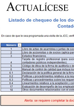 Herramienta interactiva del sistema de control de calidad en una firma de auditoría