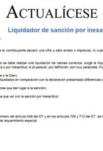 Liquidador de sanción por inexactitud