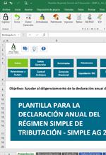 Herramienta Excel para la declaración anual del Régimen Simple de Tributación AG 2020- Alberto Sánchez
