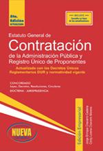 Estatuto General de Contratación de la administración pública y registro único de oponentes