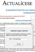 Formato en Excel para liquidar la sanción de extemporaneidad antes del emplazamiento