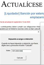 Formato en Excel para liquidar la sanción de extemporaneidad después del emplazamiento