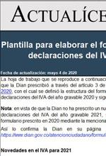 Formato: Plantilla en Excel para elaborar el formulario 300 para las declaraciones del IVA durante 2021