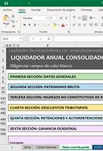 Herramienta Interactiva: Liquidador en Excel para la declaración anual consolidada del régimen simple de tributación AG 2020