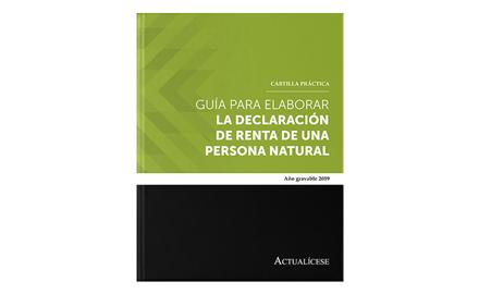 Cartilla guía para elaborar la declaración de renta de una persona natural AG 2019
